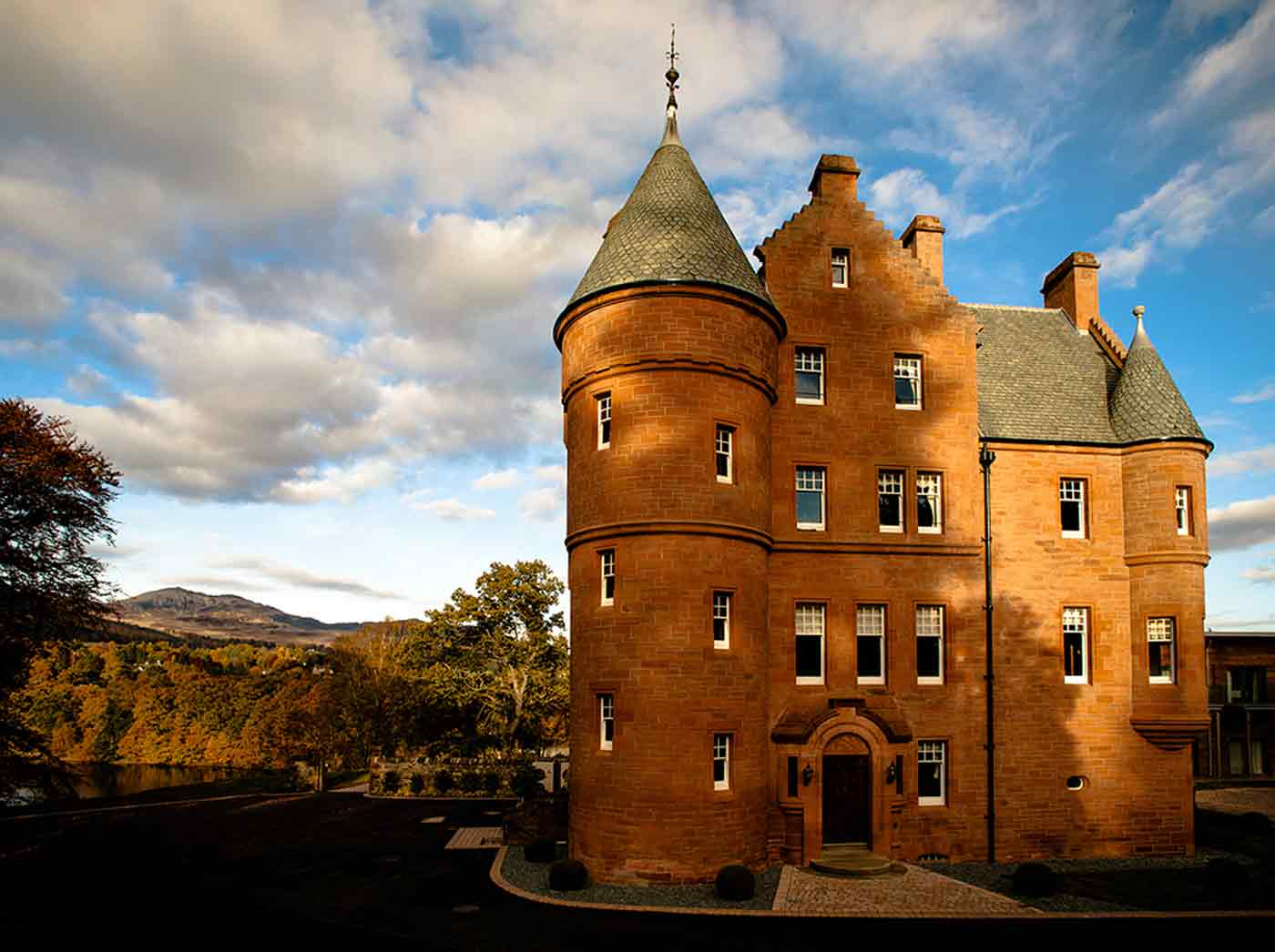 This is the magnificent Fonab Castle overlooking Loch Faskally in Pitlochry Perthshire